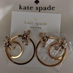 *NWT* ♠️ Kate Spade Bee 🐝 gold earrings